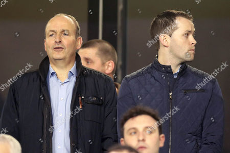 Republic of Ireland vs Denmark. Fianna Fail leader Michael Martin TD