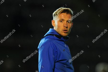 Stock Photo of Dan Green, Manager of Exeter City u18s during the FA Youth Cup Round 2 Match between Exeter City u18 and Charlton Athletic at St James Park, Exeter, Devon on November 14.