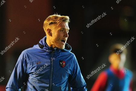 Dan Green, Manager of Exeter City u18s during the FA Youth Cup Round 2 Match between Exeter City u18 and Charlton Athletic at St James Park, Exeter, Devon on November 14.