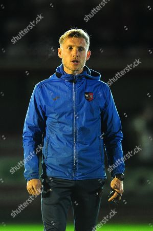 Stock Image of Dan Green, Manager of Exeter City u18s during the FA Youth Cup Round 2 Match between Exeter City u18 and Charlton Athletic at St James Park, Exeter, Devon on November 14.