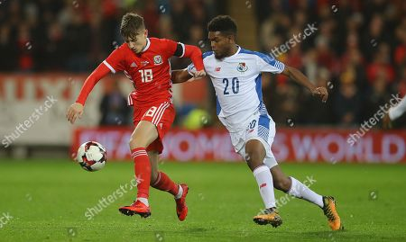 David Brooks of Wales and Ricardo Avila of Panama in action