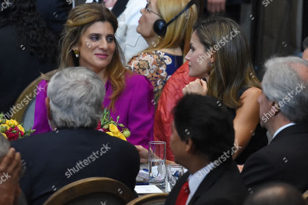 Princess Dina Mired princess of Jordan and Letizia Queen of Spain