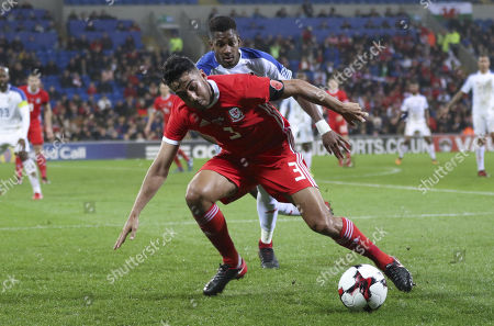 Wales v Panama, International Friendly match -Neil Taylor of Wales is challenged by Michael Amir Murillo of Panama