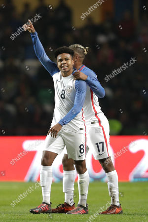 ffa553946 Stock Image of United States´s Weston McKennie´s (L) celebrates with