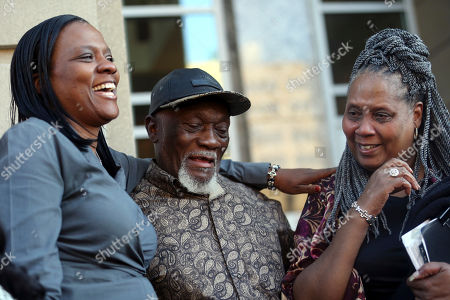 Plem Jones, Wilda Jones, Wajeedah Jones. Plem Jones, brother of Wilbert Jones, reacts with his wife Wilda Jones, right, and Wajeedah Jones, niece of Wilbert, on the steps of state district court in Baton Rouge, La., . The Louisiana man who has spent nearly 50 years in prison will be freed after a judge overturned his conviction in the kidnapping and rape of a nurse. State District Court Judge Richard Anderson set Wilbert Jones' bail at $2,000 after hearing arguments from defense attorneys and prosecutors in a Baton Rouge courtroom. One of his lawyers expects him to be released Wednesday. Anderson threw out Jones' conviction on Oct. 31, saying authorities withheld evidence that could have exonerated Jones decades ago