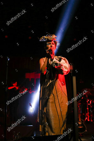 The lead singer of British electronic music duo Lamb, Lou Rhodes, performs live at the Lisbon Coliseum as part of their 'Twenty One' Tour, Lisbon, Portugal, 14 November 2017.