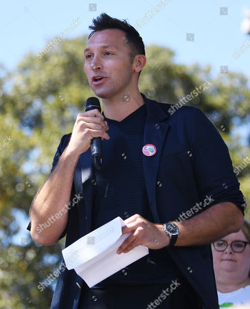 Ian Thorpe speaks after watching the same sex marriage vote result announcement during a picnic held by the Equality Campaign at Prince Regent Park in Sydney,  Australia, 15 November 2017. Australians have given same-sex marriage their approval with a 61.6 per cent 'yes' vote in a voluntary survey.
