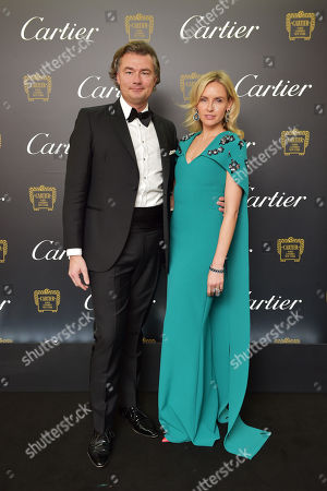 Stock Picture of Laurent Feniou and Nadya Abela