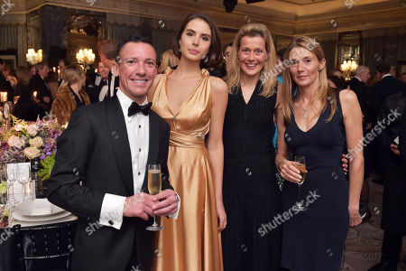 Frankie Dettori, Genevieve Gaunt, Carine Feniou and Catherine Dettori