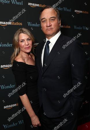 Jennifer Sloan (L) and James Belushi