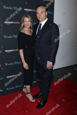 Stock Photo of James Belushi and wife Jennifer Sloan