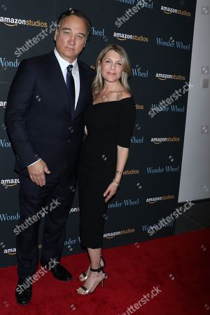 Stock Picture of James Belushi and wife Jennifer Sloan