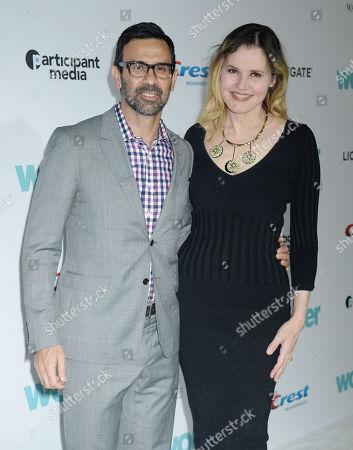 Geena Davis and husband Reza Jarrahy