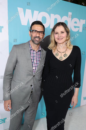 Stock Photo of Reza Jarrahy, Geena Davis