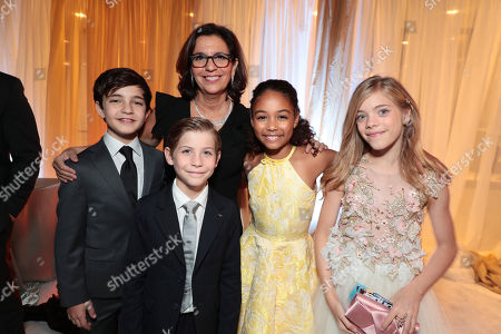 Bryce Gheisar, Jacob Tremblay,, R.J. Palacio, Author/Executive Producer, Millie Davis, Elle McKinnon