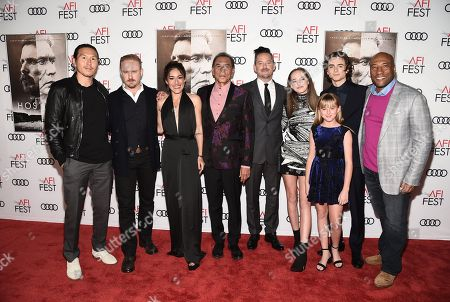 Ken Kao, Producer, Ben Foster, Q'orianka Kilcher, Wes Studi, Scott Cooper, Writer/Director/Producer, Stella Cooper, Ava Cooper, Timothée Chalamet and Byron Allen, CEO and Chairman of Entertainment Studios