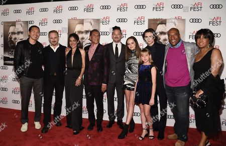 Ken Kao, Producer, Ben Foster, Q'orianka Kilcher, Wes Studi, Scott Cooper, Writer/Director/Producer, Stella Cooper, Ava Cooper, Timothée Chalamet, Byron Allen, CEO and Chairman of Entertainment Studios, and Carolyn Folks