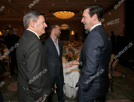 Stock Picture of Ted Sarandos and Jon Hamm attend the 14th annual AFI Awards Luncheon at Four Seasons Hotel Beverly Hills on in Beverly Hills, California