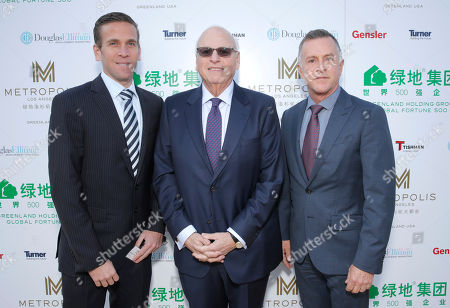 Douglas Elliman Real Estate's Cory Weiss, Howard Lorber and Tom Dunlap attend Douglas Elliman Real Estate's Celebration of Groundbreaking for Metropolis Los Angeles, on Friday, Feb 14th, 2014 in Los Angeles