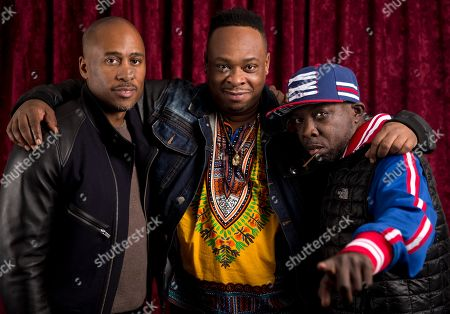 Ali Shaheed Muhammad, from left, Jarobi White, and Malik Isaac Taylor aka Phife Dawg of A Tribe Called Quest pose for a portrait at Sirius XM studios in New York. Dawg, a masterful lyricist whose witty wordplay was a linchpin of the groundbreaking hip-hop group, died, from complications resulting from diabetes, his family said in a statement Wednesday. He was 45