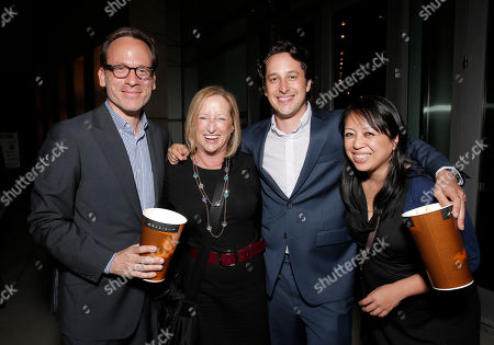 """Producer Michael Costigan, Fox Searchlight's President of Production Claudia Lewis, Fox Searchlight's VP of Production David Greenbaum attend the after party for the LA premiere of Fox Searchlight Pictures' """"The East"""" presented by Piaget at the ArcLight Hollywood, in Los Angeles"""