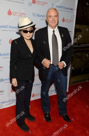Hard Rock International President and CEO Hamish Dodds arrives with Yoko Ono at the T.J. Martell Foundation's 39th Annual New York Honors Gala at Cipriani 42nd Street on in New York. Dodds was there to receive the Spirit of Excellence Award