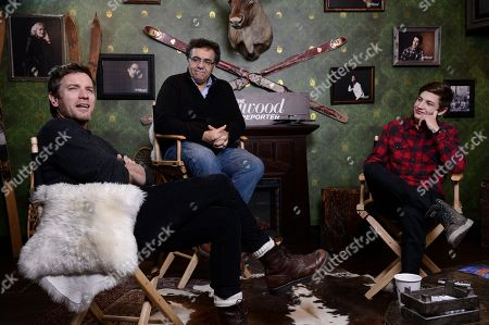 From right to left, actor Tye Sheridan, director Rodrigo Garcia, and actor Ewan McGregor seen at The Hollywood Reporter Studio at Sundance on in Park City, Utah
