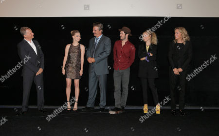 Director Rob Epstein, Amanda Seyfried, Chris Noth, Adam Brody, Juno Temple and Sharon Stone attend the Los Angeles Premiere of Millennium Films and Radius TWC's Lovelace presented by Casa Reale, on Monday, August, 5th, 2013 in Los Angeles. exclusive
