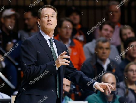 Charlotte head coach Mark Price during an NCAA college basketball game between Charlotte and Oklahoma State in Stillwater, Okla