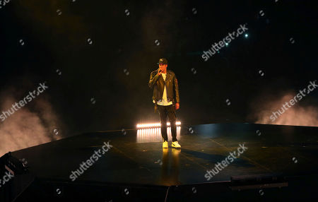 Stock Photo of Jay-Z, Shawn Corey Carter. Jay-Z performs at Philips Arena, in Atlanta