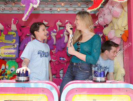 """River Alexander and Zoe Levin host a Wack-A-Mole game for """"The Way Way Back"""" First Day of Summer Kick Off, on Friday, June, 21, 2013 in Santa Monica, California"""