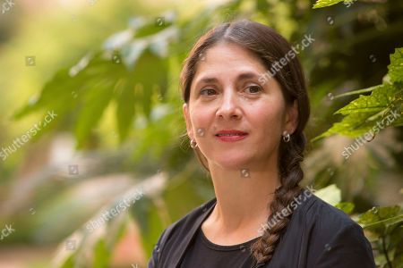Director Esther Campbell poses for portraits for the film Light Years during the 72nd edition of the Venice Film Festival in Venice, Italy, . The 72nd edition of the festival runs until Sept. 12