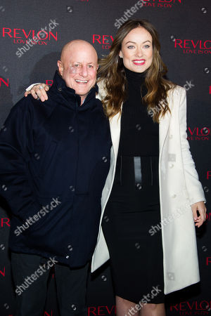 """Ron Perelman and Olivia Wilde unveil the """"Love Is On"""" Revlon Billboard in Times Square on in New York"""