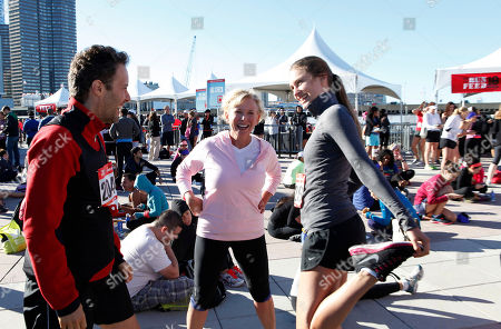 David Lauren, Sharon Bush and FEED CEO Lauren Bush Lauren enjoy the festival at the flagship 10K event of the nationwide Women's Health RUN 10 FEED 10 running series, on in New York. This program has raised nearly 800,000 meals to date