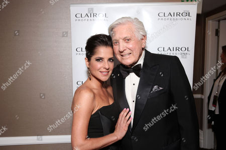 IMAGE DISTRIBUTED FOR EFG - Kelly Monaco and Monty Hall seen at The 40th Annual Daytime Emmy Awards Backstage Clairol Professional Hair Studio, on Sunday, June, 16, 2013 in Beverly Hills