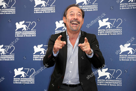 Actor Guillermo Francella poses for photographers at the photo call for the film El Clan (The Clan) during the 72nd edition of the Venice Film Festival in Venice, Italy, . The 72nd edition of the festival runs until Sept. 12