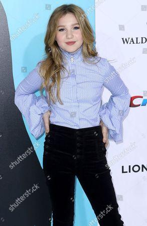 "Ella Anderson arrives at the LA Premiere of ""Wonder"" at the Regency Village Theatre, in Los Angeles"