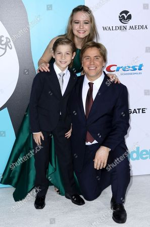 "Jacob Tremblay, Izabela Vidovic, Stephen Chbosky. Jacob Tremblay, from left, Izabela Vidovic, Stephen Chbosky arrive at the LA Premiere of ""Wonder"" at the Regency Village Theatre, in Los Angeles"