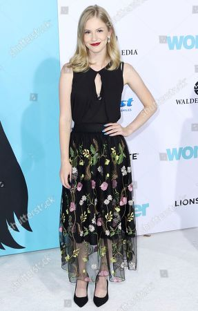 """Stock Photo of Erika McKitrick arrives at the LA Premiere of """"Wonder"""" at the Regency Village Theatre, in Los Angeles"""