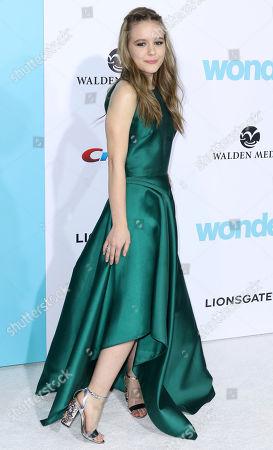 "Izabela Vidovic arrives at the LA Premiere of ""Wonder"" at the Regency Village Theatre, in Los Angeles"