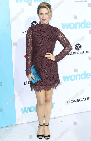 """Stock Photo of Ali Liebert arrives at the LA Premiere of """"Wonder"""" at the Regency Village Theatre, in Los Angeles"""