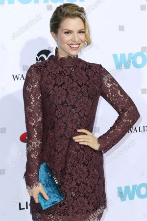 """Stock Image of Ali Liebert arrives at the LA Premiere of """"Wonder"""" at the Regency Village Theatre, in Los Angeles"""