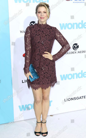 "Ali Liebert arrives at the LA Premiere of ""Wonder"" at the Regency Village Theatre, in Los Angeles"