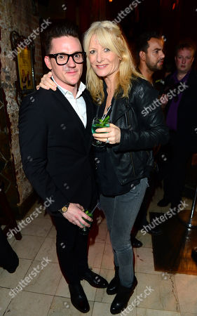 Glen Berry and Gabby Roslin are seen at a press night for Beautiful Thing at the Arts Theate in London on