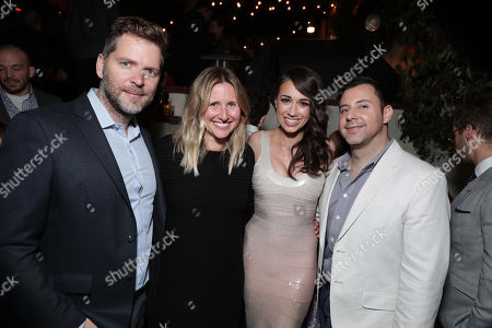 "Netflix Director Original Series - Brian Wright, Netflix Director Original Series - Kristen Zolner, Colleen Ballinger and Netflix Director Original Series - Ted Viaselli seen at Netflix original series ""Haters Back Off!"" Screening Event After-Party, in Los Angeles, CA"