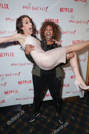 "Colleen Ballinger and Glozell seen at Netflix original series ""Haters Back Off!"" Screening Event, in Los Angeles, CA"