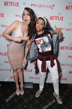"""Colleen Ballinger and Lilly Singh seen at Netflix original series """"Haters Back Off!"""" Screening Event, in Los Angeles, CA"""
