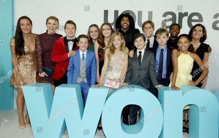 Crystal Lowe, Ali Liebert, Ty Consiglio, Noah Jupe, Izabela Vidovic, Danielle Rose Russell, Elle McKinnon, Daveed Diggs, Bryce Gheisar, Stephen Chbosky, Director/Writer, James A Hughes, Nadji Jeter, Millie Davis, R.J. Palacio, Author/Executive Producer,