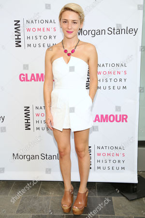 Addison Timlin arrives at the 3rd Annual Women Making History Event at the Skirball Cultural Center, in Los Angeles