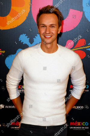 Cyril Feraud poses for the premiere of Disney Pixar's 'Coco' at Le Grand Rex, in Paris